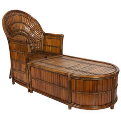 Rattan or Wicker Chase Longue