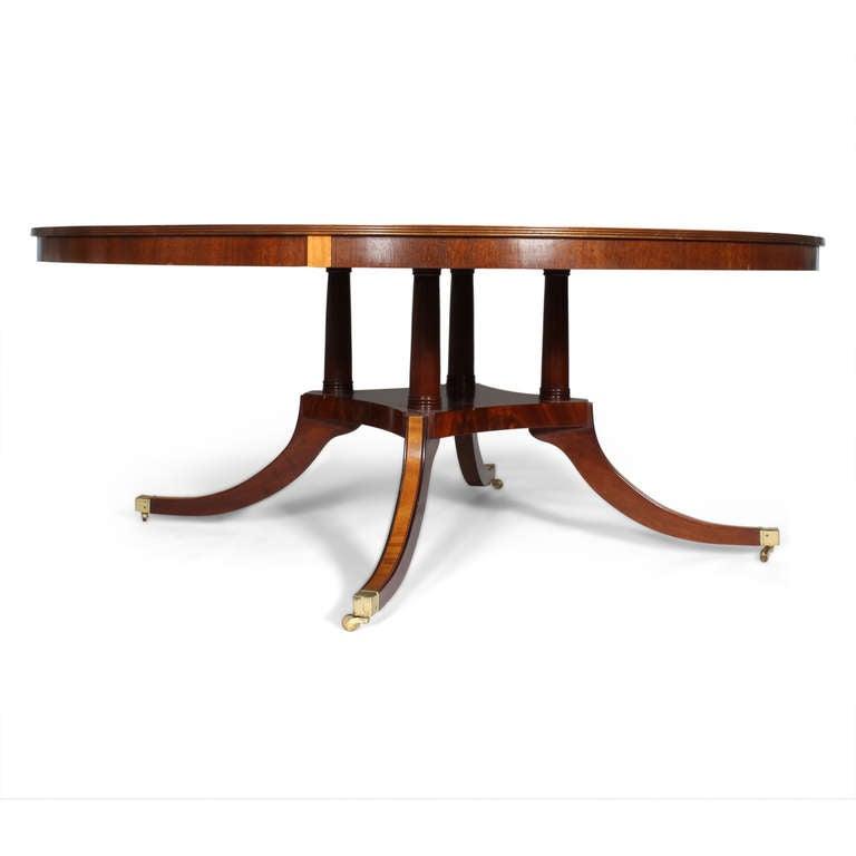 Custom Round Inlaid Mahogany Banded Dining Table at 1stdibs : IMG1377copyl from 1stdibs.com size 768 x 768 jpeg 23kB