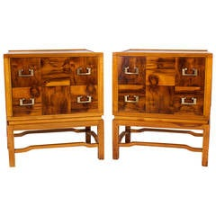 Pair of Two-Drawer Nightstands or Chests by See Mar