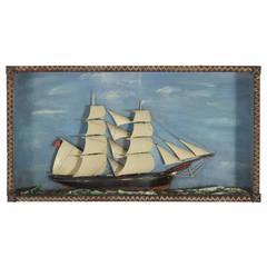 19th C. English Sailing Ship Diorama