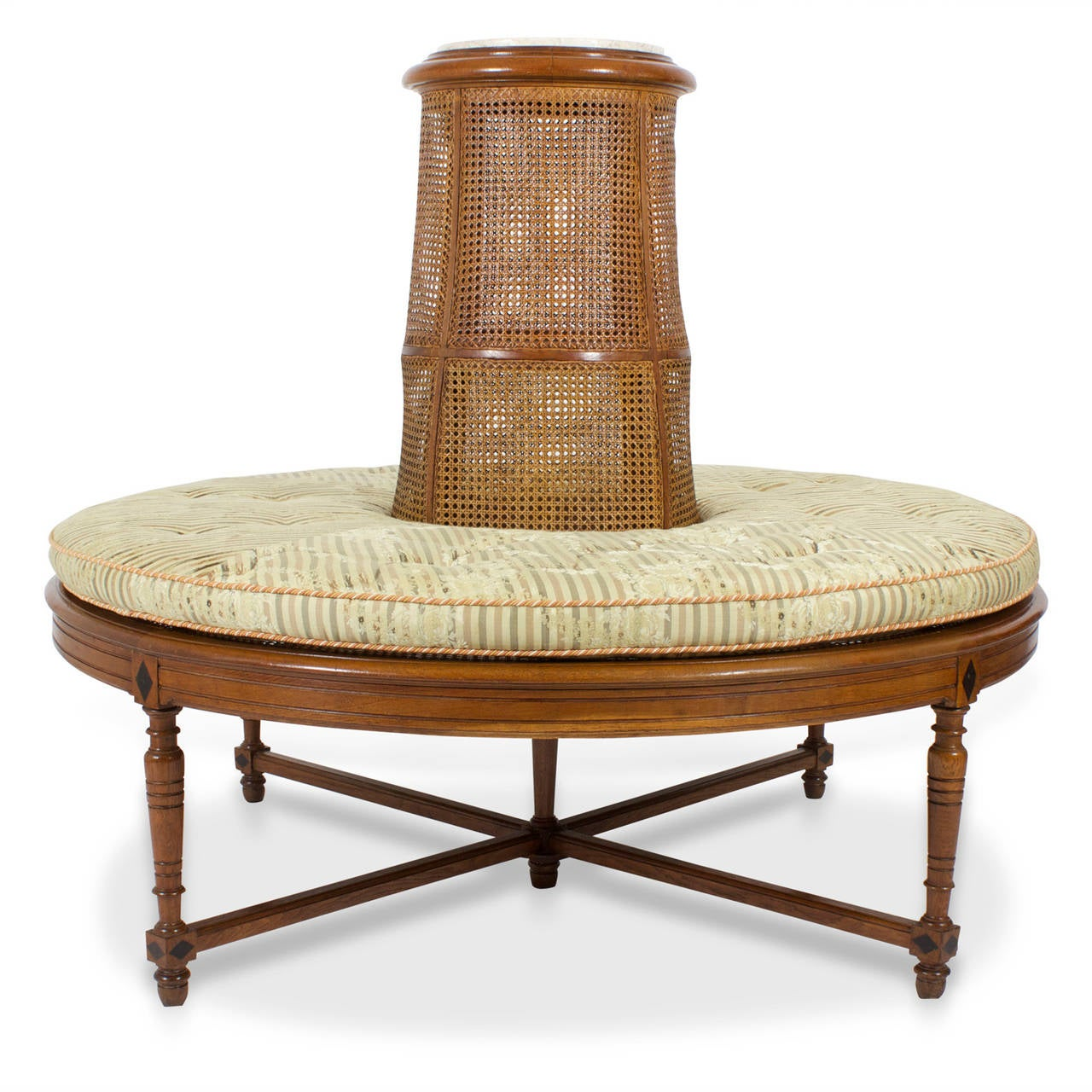 French 20th Century Caned Borne Settee