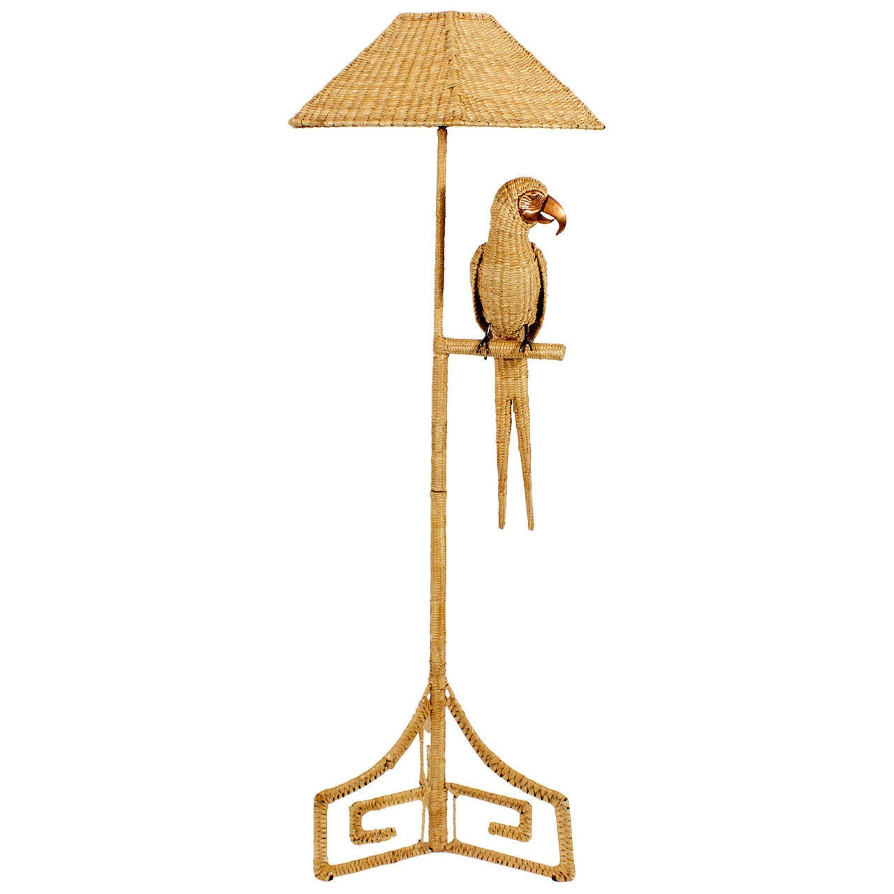 Labeled Mario Torres Parrot Floor Lamp at 1stdibs