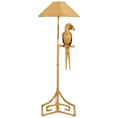 Labeled Mario Torres Parrot Floor Lamp