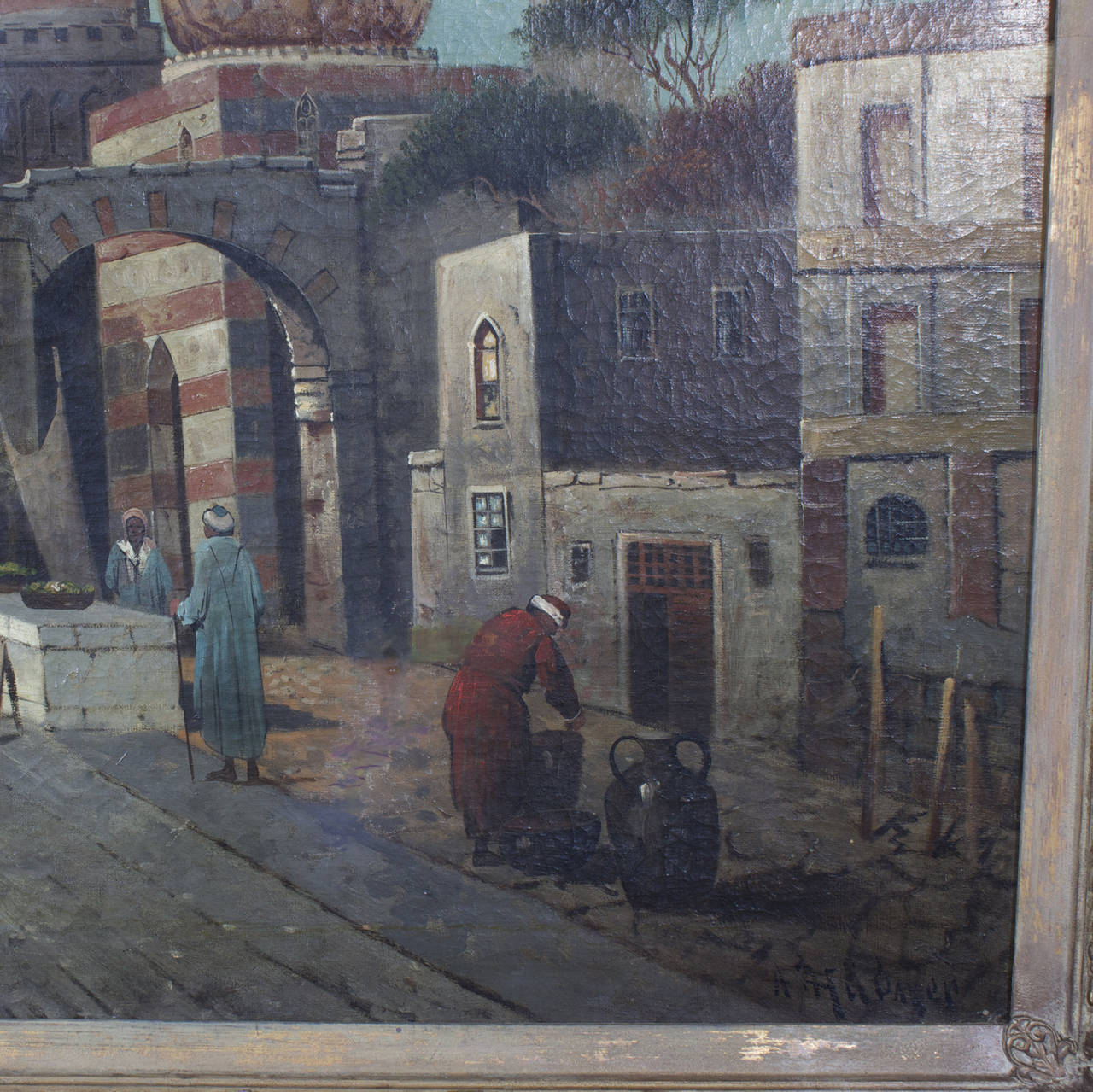 19th Century Orientalist Oil on Canvas Painting  For Sale 1