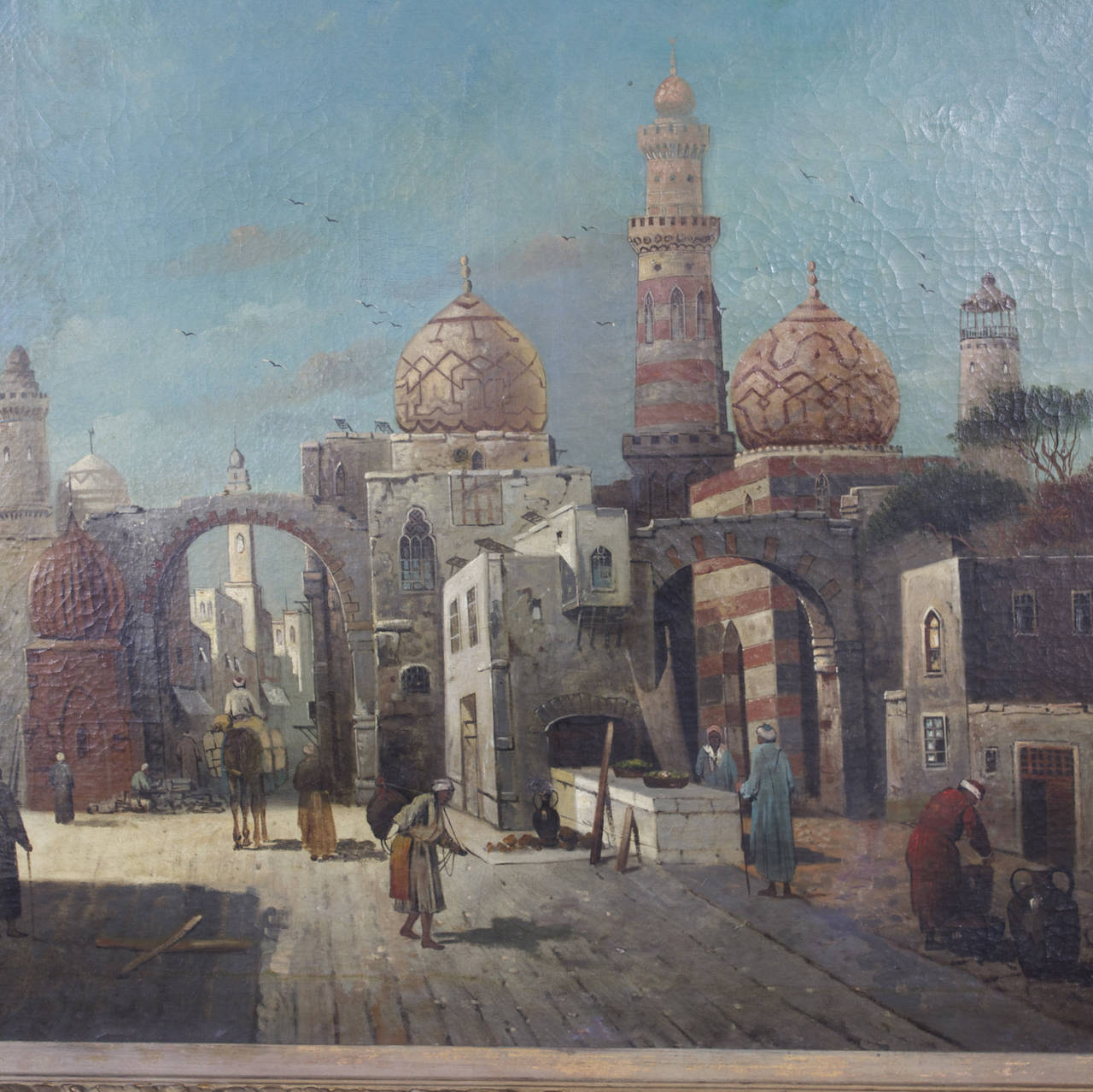 German 19th Century Orientalist Oil on Canvas Painting  For Sale