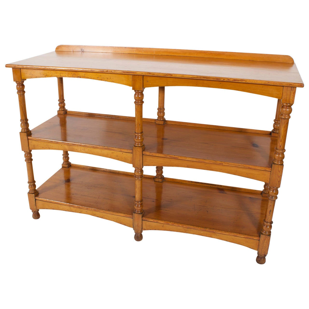 19th C. 3 Tiered English Pine Server or Set of Shelves