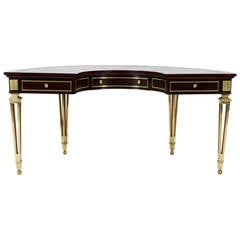 Mastercraft Demilune Desk with Bronze Legs