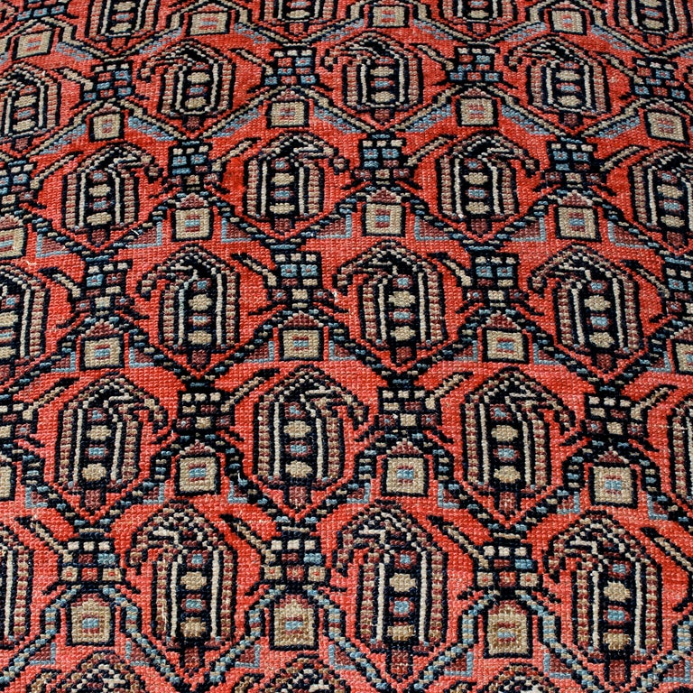 Turkish Rug Covered Ottoman: Oriental Rug Covered Ottoman, Hassock Or Footstool For