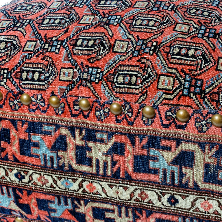 Rug Covered Ottoman Ottomans To Die For Home