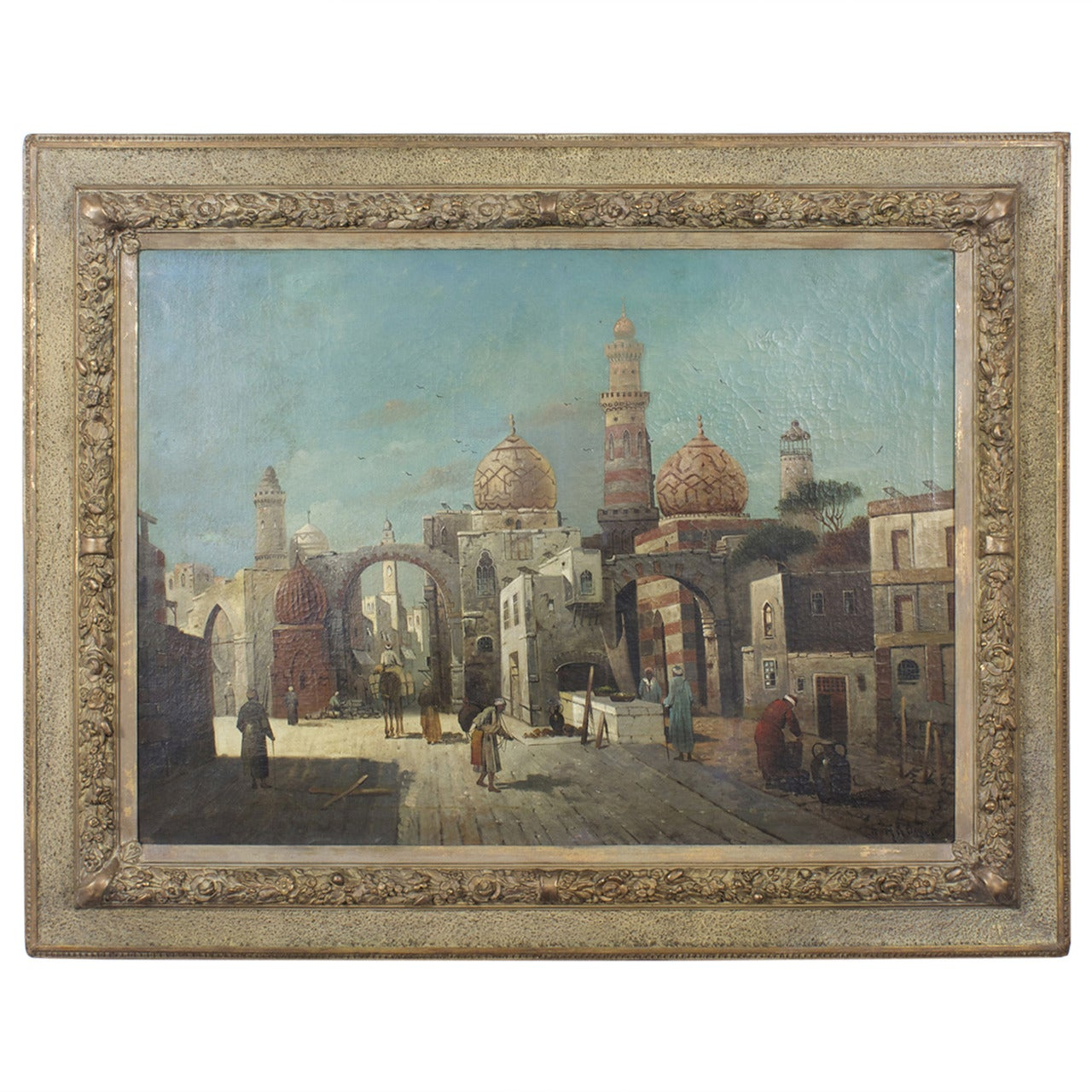 19th Century Orientalist Oil on Canvas Painting