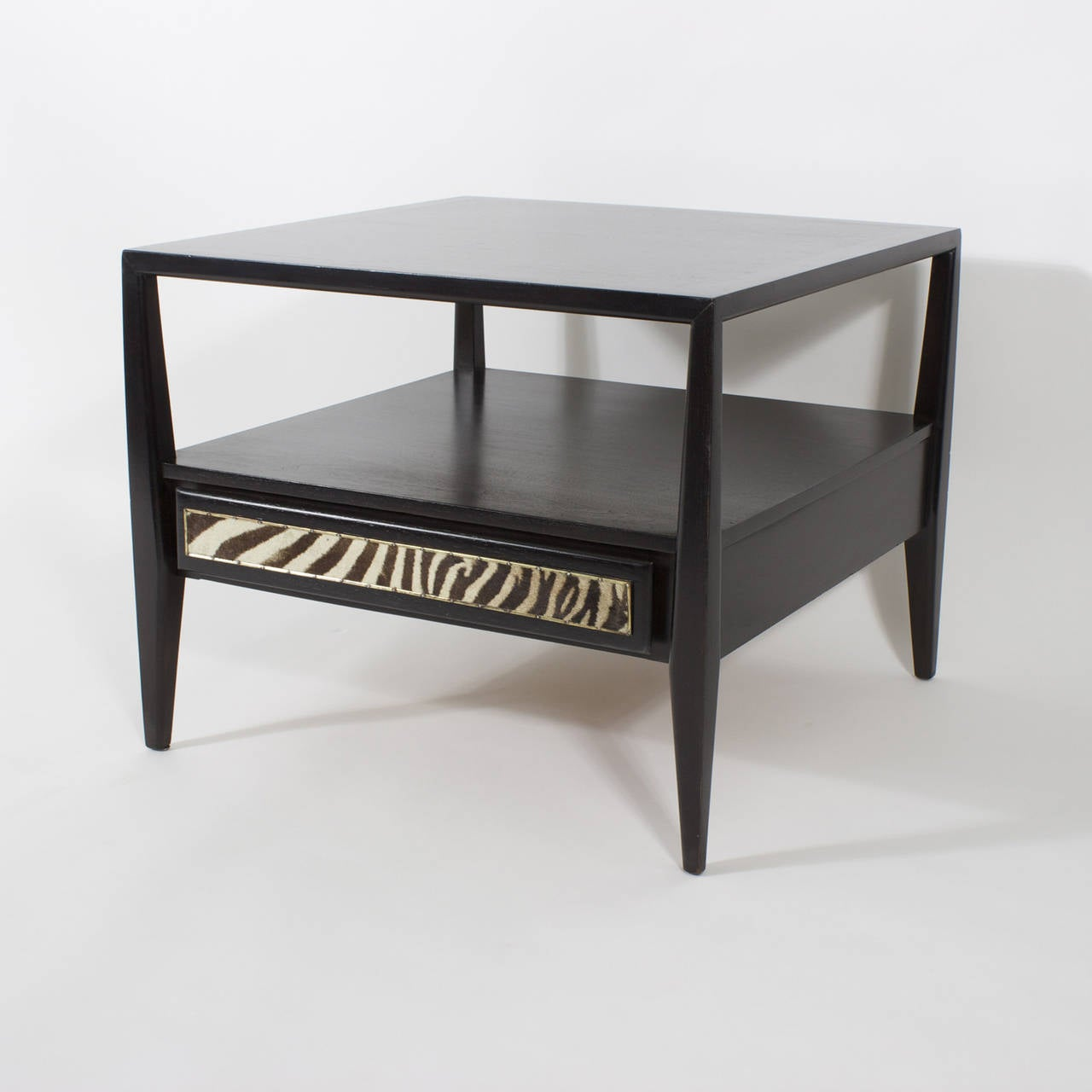 Merveilleux Mid Century Elegance Combined With The Warm Burchell Zebra Hide Drawer  Fronts And Ebonized Finish