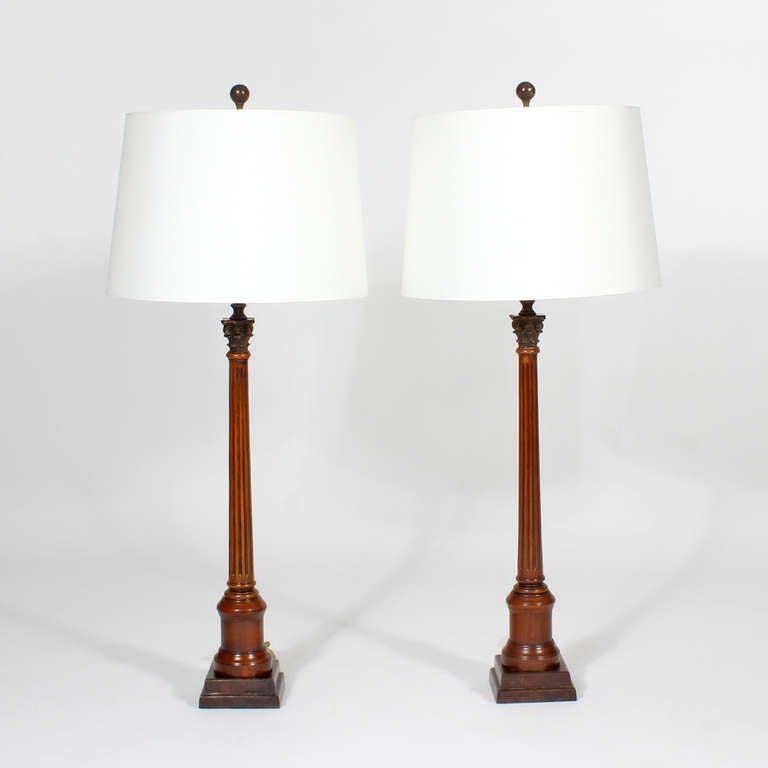 English Pair of Neoclassical Lamps For Sale