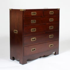 Great Small Campaign Style Chest of Drawers