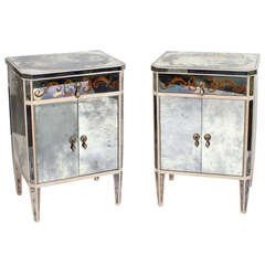 Pair Of Collapsible Cube Tables At 1stdibs