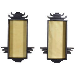 Pair of James Mont Style Asian Modern Wall Brackets