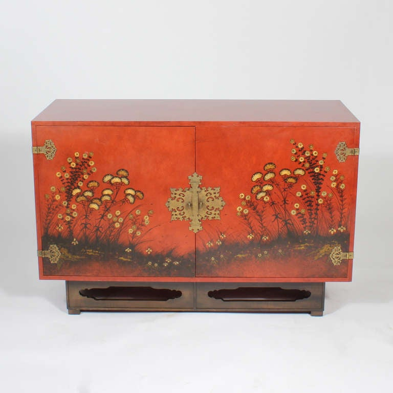 Modern Chinoiserie Decorated Sideboard By Beacon Hill At 1stdibs