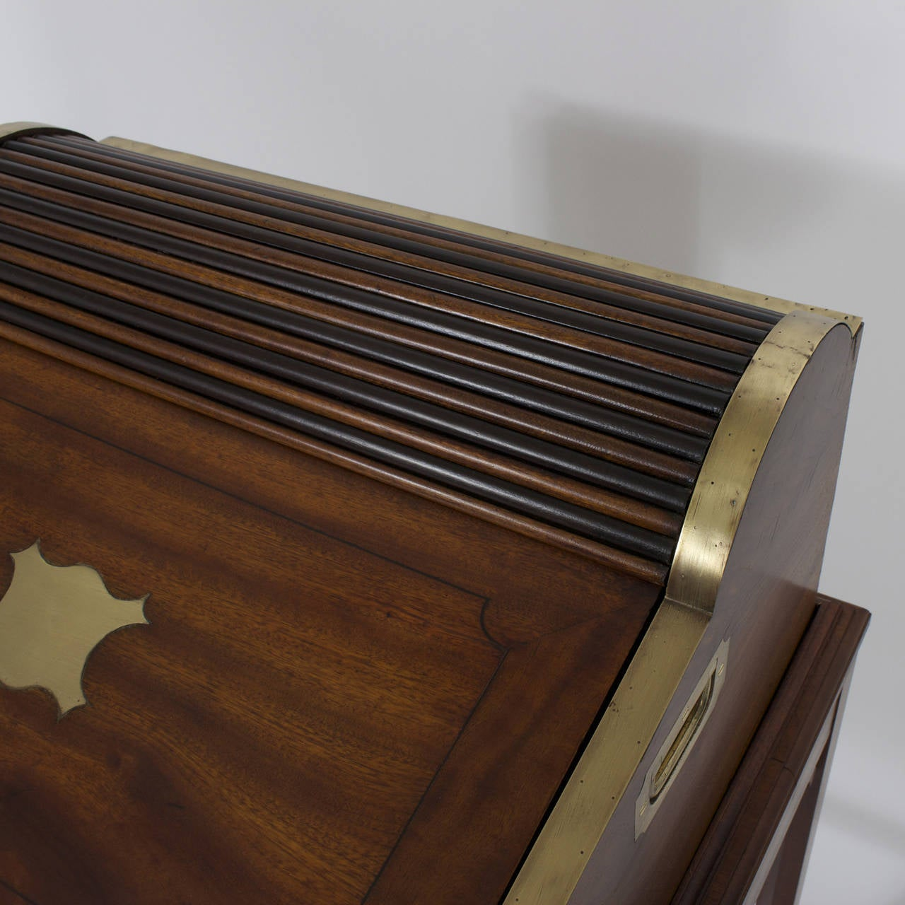 Campaign Roll Top Desk on Stand For Sale 4