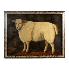 A Large Oil Painting of a Sheep by William Skilling