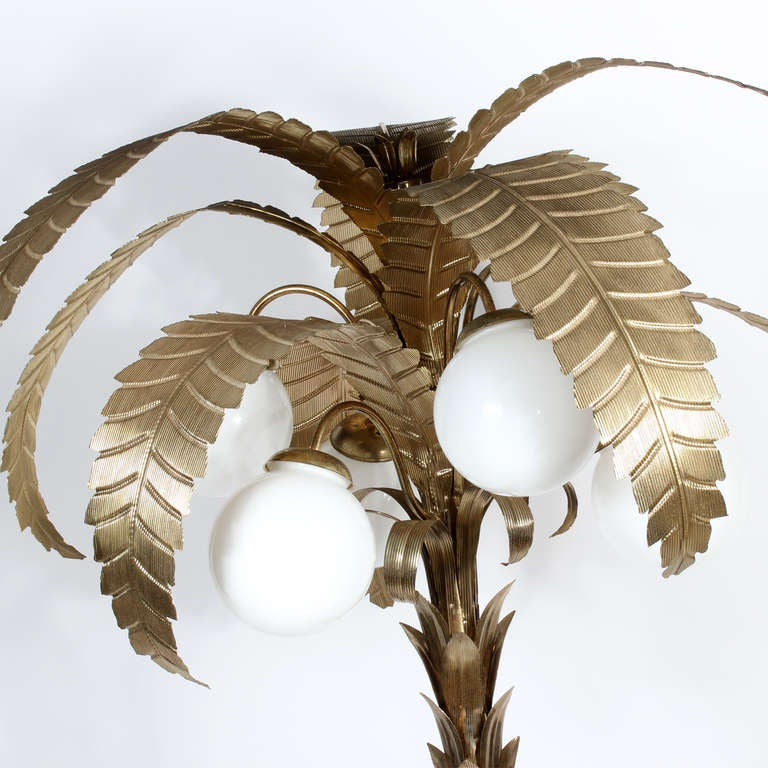 Large palm tree floor lamp image 2 for Large tree floor lamp