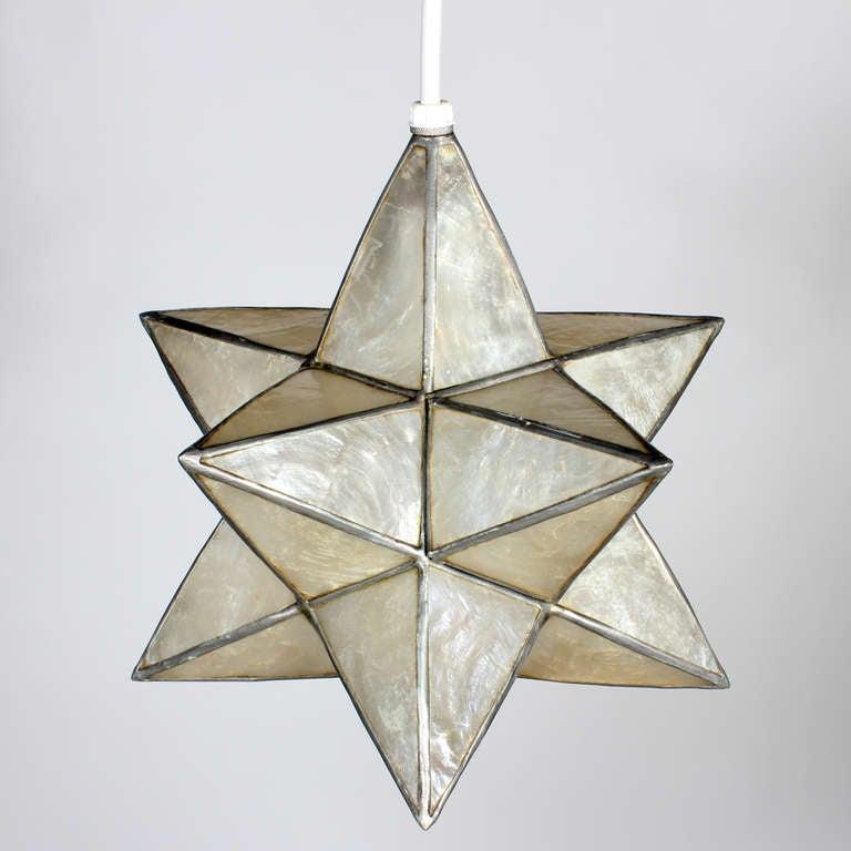 four capiz star shaped pendant lights 6 capiz lighting fixtures