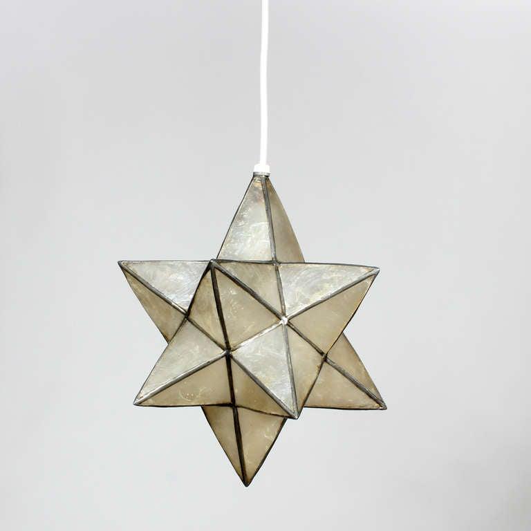 star pendant lighting. Capiz Star Shaped Pendant Lights Priced Individually 3 Lighting