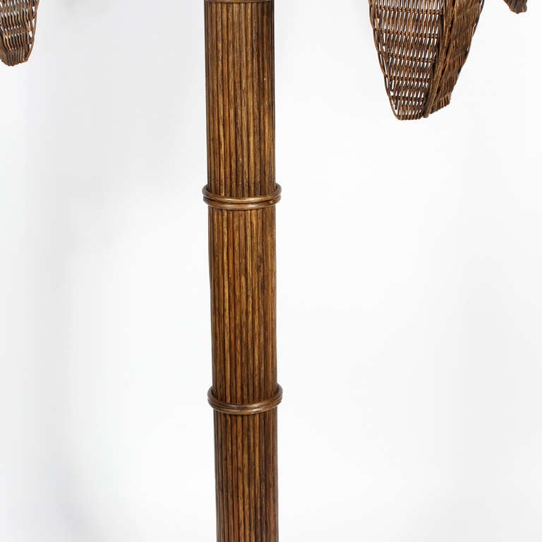 Rattan Palm Tree Floor Lamp at 1stdibs