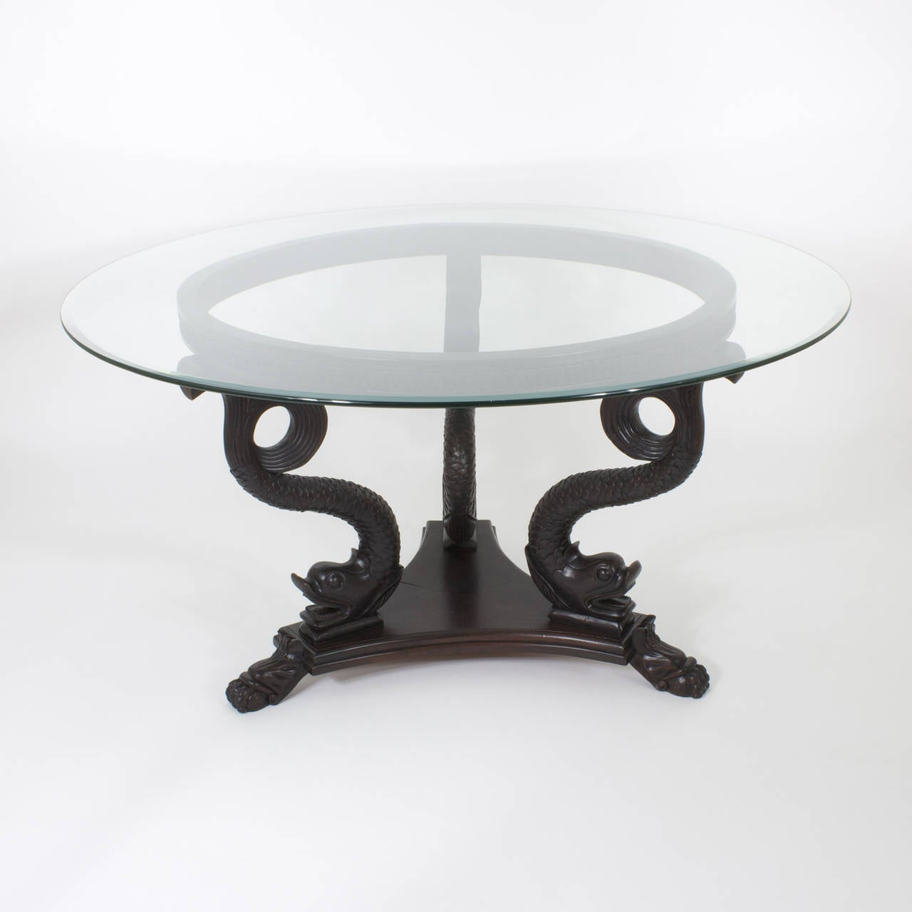 Neoclassical Style Dolphin Center or Dining Table For Sale  : 1l from www.1stdibs.com size 1280 x 1280 jpeg 54kB