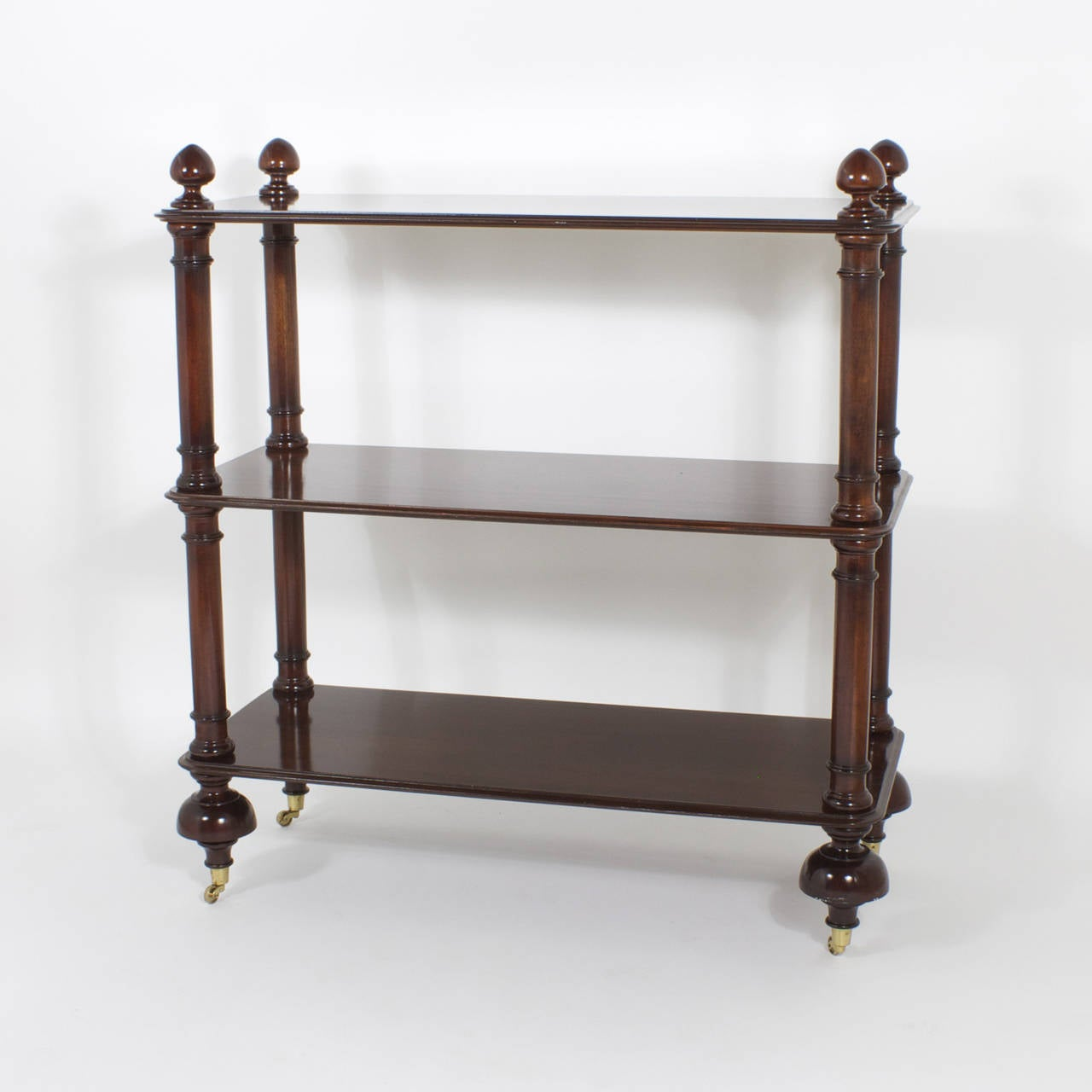 Three tiered mahogany set of shelves or tager for sale - Etagere 6 cases ...