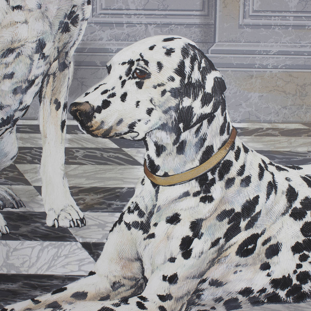 Dalmatian Painting  In Excellent Condition In Palm Beach, FL