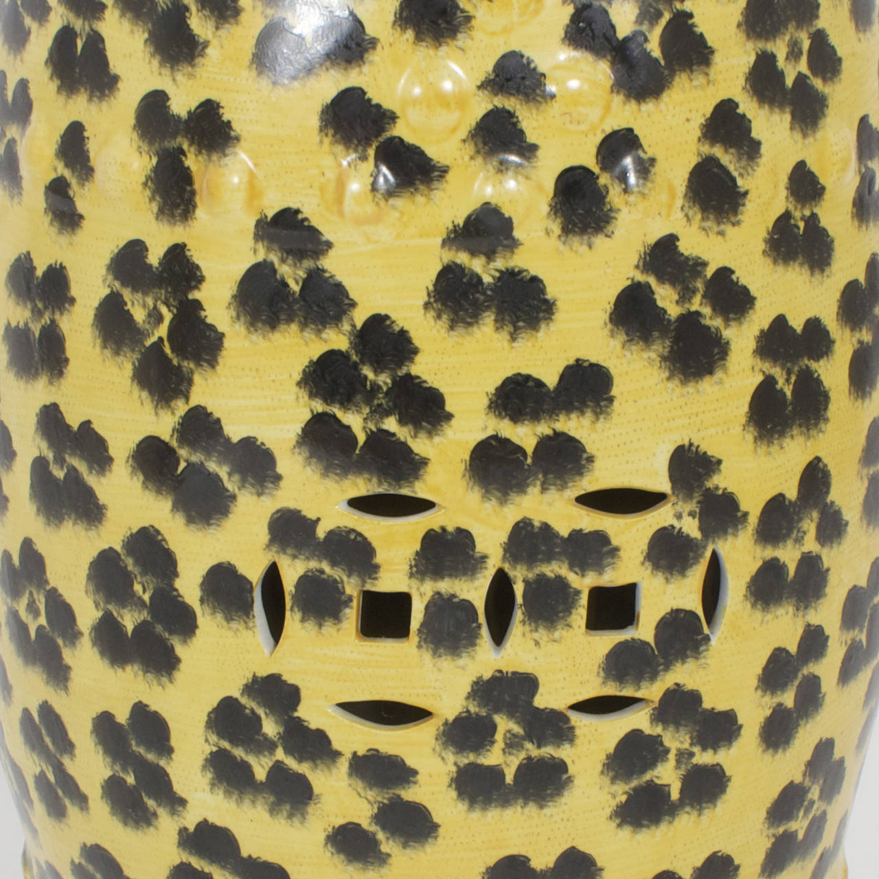 Pair Of Leopard Print Garden Seats At 1stdibs
