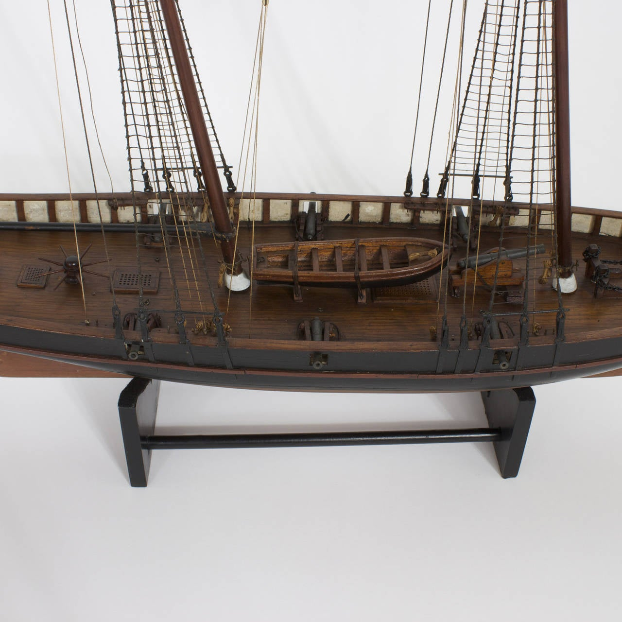 Mahogany schooner ship or boat model for sale at stdibs