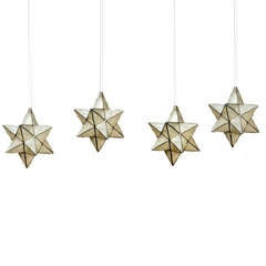 Capiz Star Shaped Pendant Lights, Priced Individually, 3 Available