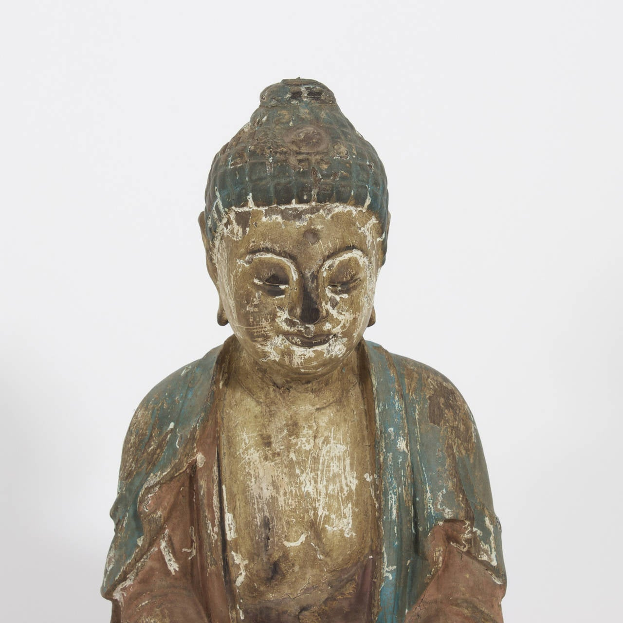 Carved Buddha on Lotus Sculpture 4