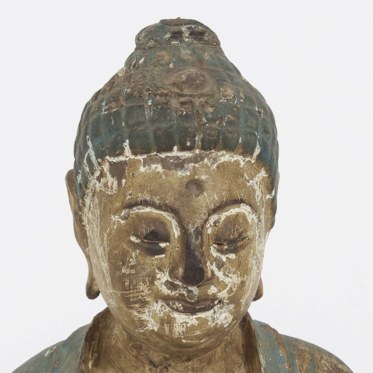 Carved Buddha on Lotus Sculpture 5
