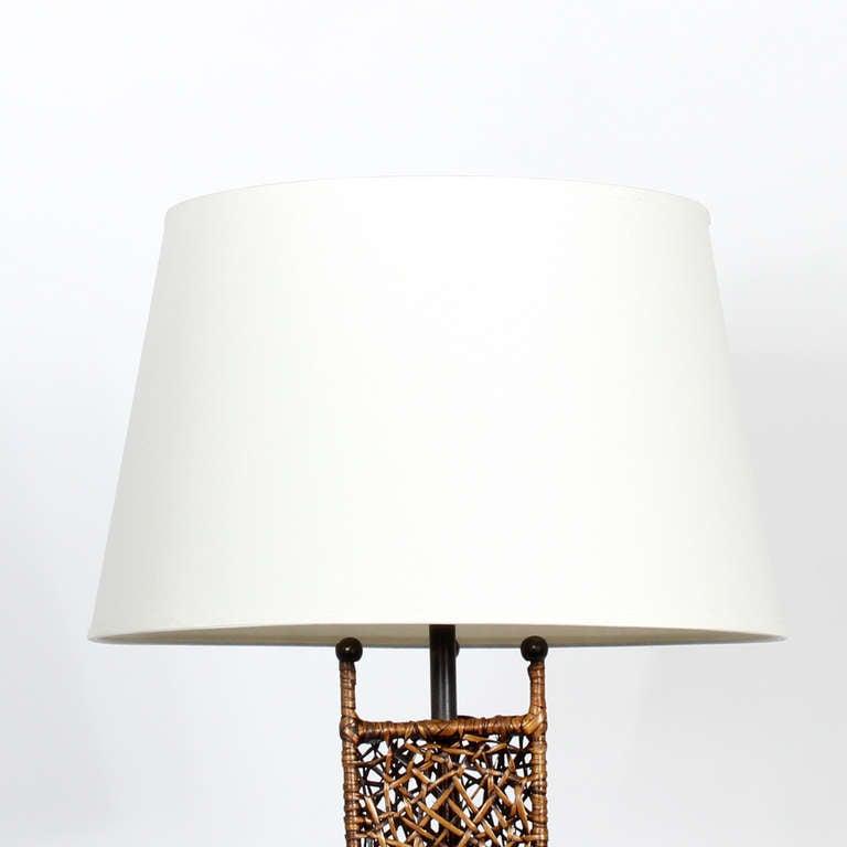 Modern Design Woven Wicker Floor Lamp For Sale At 1stdibs