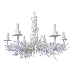 20th Century Painted Iron Faux Coral Chandelier