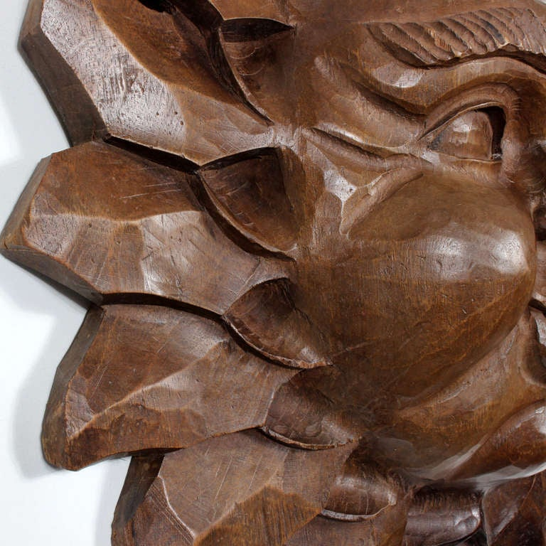 Carved Wood Sun Face For Sale At 1stdibs