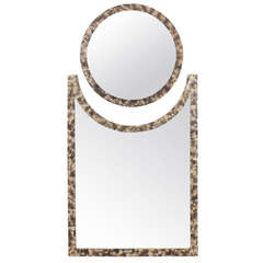 Python Snakeskin Two-Part Mirror in the Manner of Karl Springer