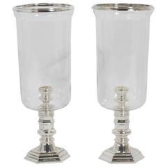 Pair of Ralph Lauren Hurricane Candleholders