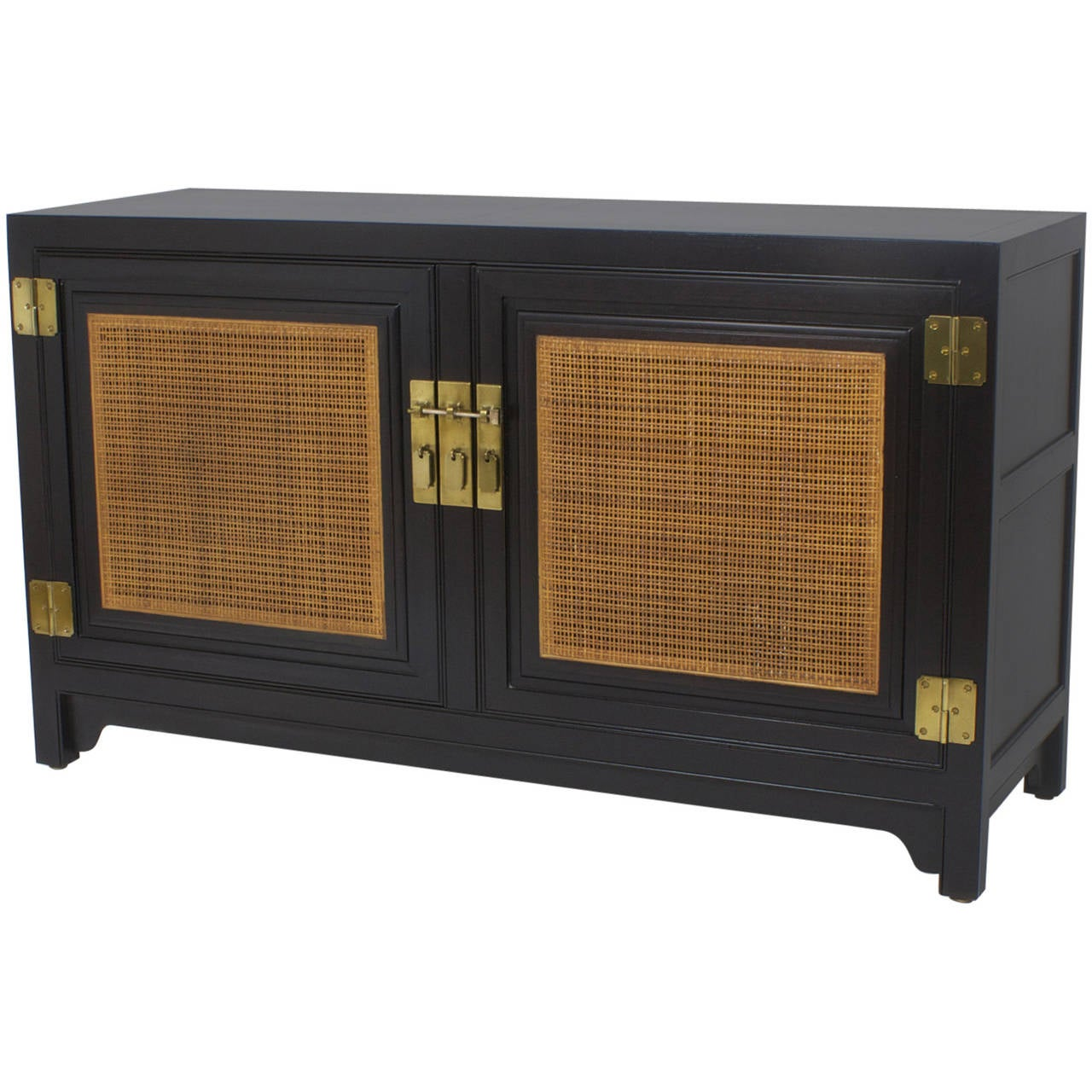 Midcentury Rattan Sideboard By Baker At 1stdibs