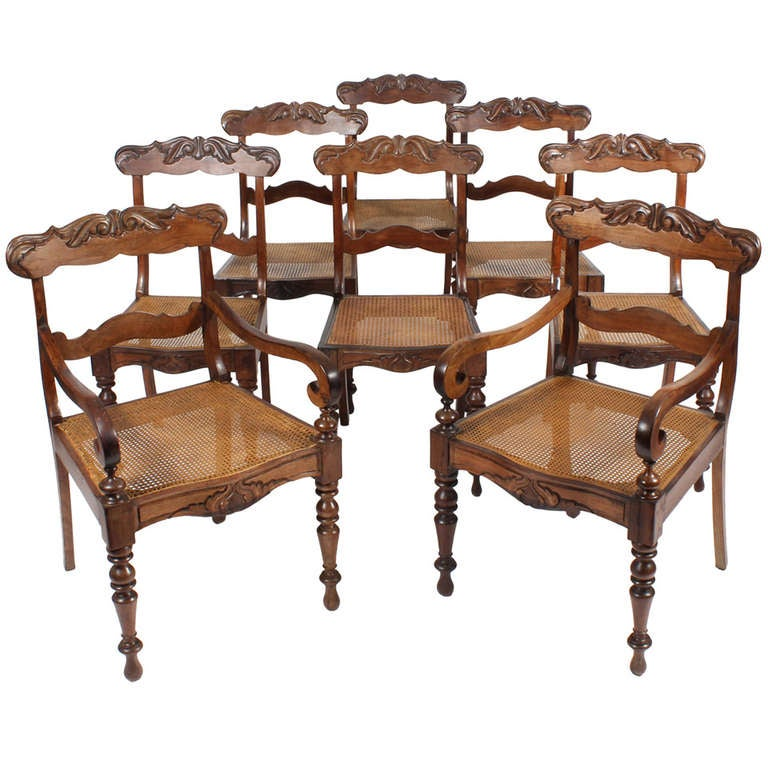 set of 8 anglo indian dining chairs at 1stdibs