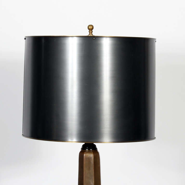 Antique Pencil Post Rice Bed Gray White And Copper Bedroom: Modern Pencil Post Bronze Floor Lamp At 1stdibs