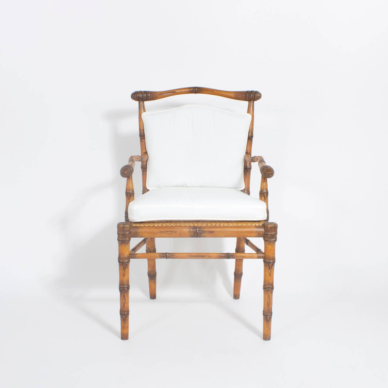Set Of 12 Faux Bamboo Armchairs At 1stdibs