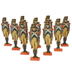 Five Ticonderoga Old Guard Lithographed Soldiers