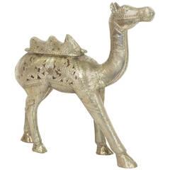 Silvered Metal Clad Camel