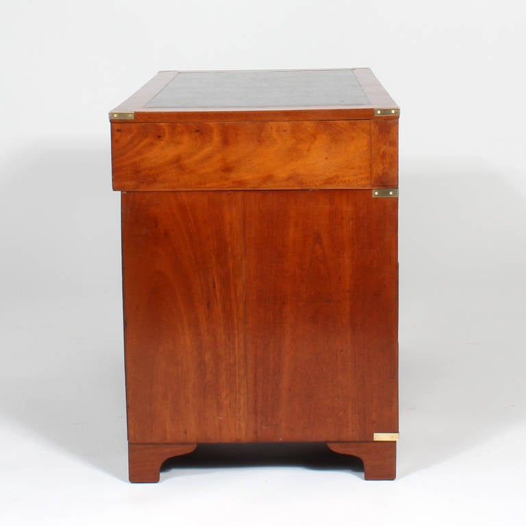19th Century Mahogany Flat Top Campaign Desk At 1stdibs