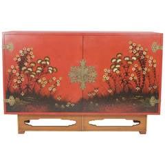 Modern Red Cabinet