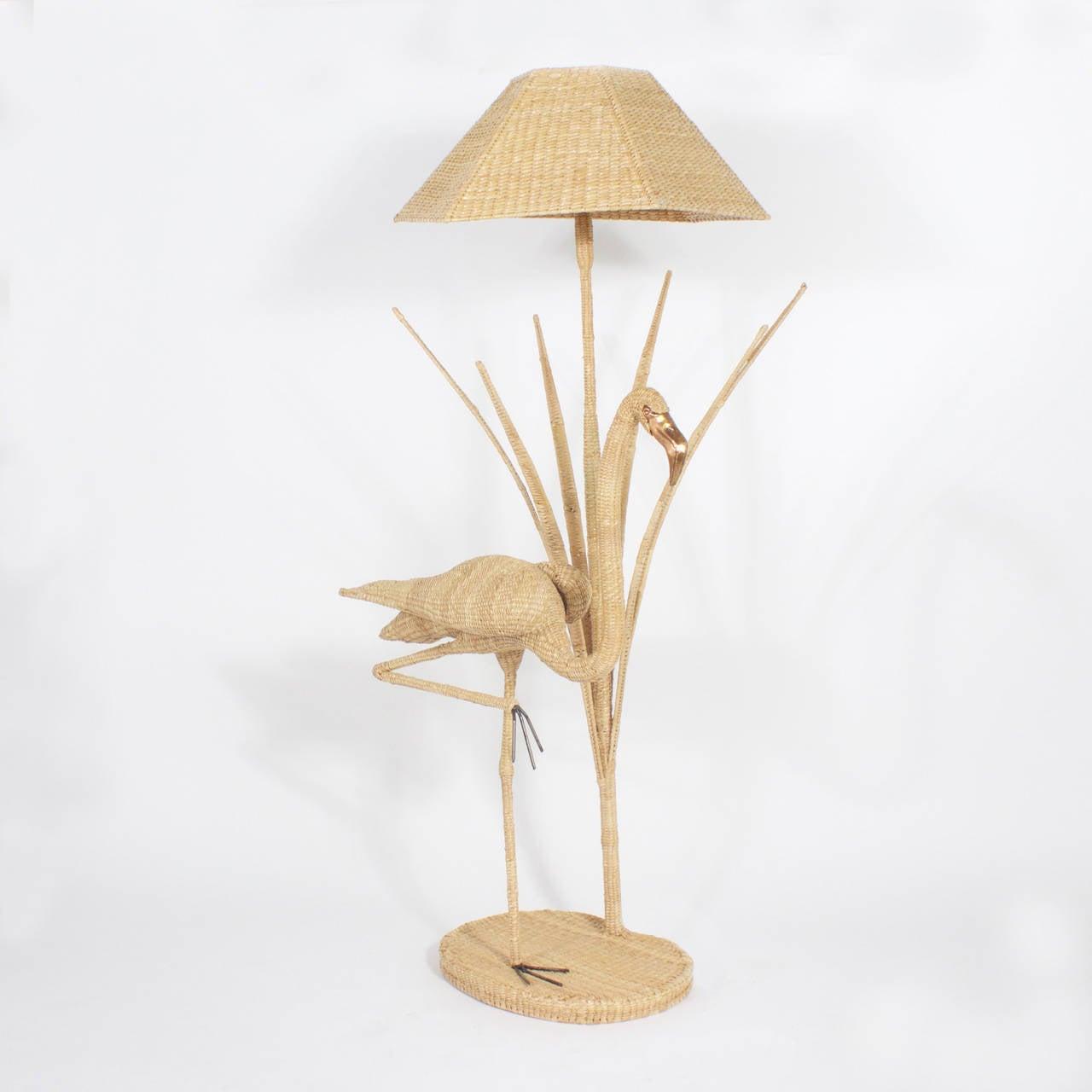 Mario Torres Flamingo Floor Lamp In Good Condition For Sale In Palm Beach, FL