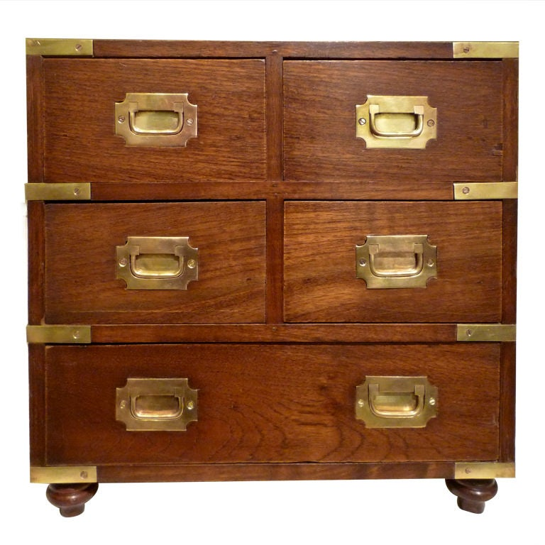 a large mahogany campaign style jewelry chest for sale at