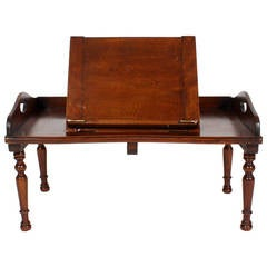19th Century Adjustable Campaign Reading Tray